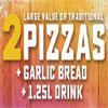2 Large Pizza